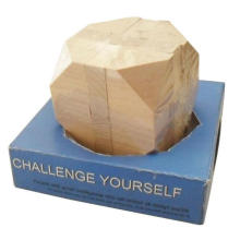 Puzzle en bois carré, puzzle en bois d'iq, puzzle en bois d'imagin