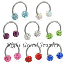 316L Surgical Steel Piercing Hoop Wholesale Disco Ball Nose Ring