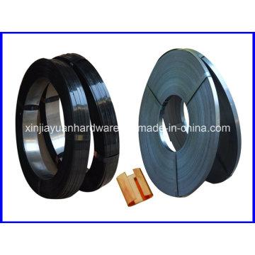 Vente en gros de cerclage en acier peint noir et ciré