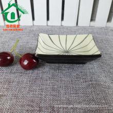 2015 Quadratische benutzerdefinierte billige Bulk islamische Keramik-Teller