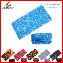 LINGSHANG wholesale scarf multifunction outdoor custom seamless bandana with logo