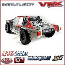 carro de escala 1/10 curso corto sin escobillas con radio de 2.4GHz, coche de juguete RC eléctrico 4WD