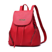 Women Fashion Leather Daypack Schoolbag untuk Girls