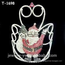 La fantasía coloreó las coronas del desfile del navidad de la sorpresa del duende del rhinestone para la venta