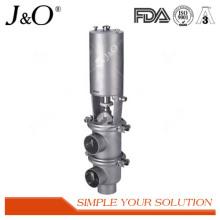 Válvula reversible sanitaria con actuador neumático