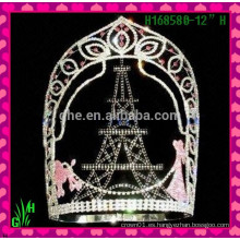 Tiara caliente del rhinestone de la tiara del Rhinestone de los nuevos diseños al por mayor
