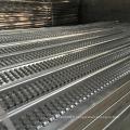 Maille métallique à nervures élevées pour la construction