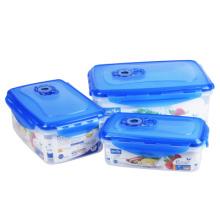 3 plástico da caixa de armazenamento do refrigerador do produto comestível de PCS selado