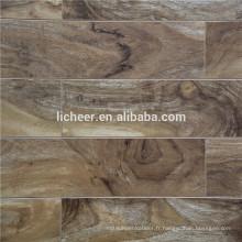 Revêtement de sol stratifié intérieur peu coûteux Revêtement de sol stratifié de surface gaufré