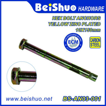 China Supplier Carbon Steel Hex Bolt Sleeve Anchor with Yellow Zinc Plated