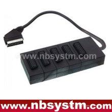 21 pinos Scart plug para 5 x 21pin Scart jacks box 30cm (dvd.video, dvd-r, versterker, controle de jogo)