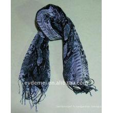 Écharpe imprimée pour la peau de serpent double couleur