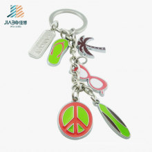 Promotional Gift Wholesale Alloy Holiday Decoration Custom Colorful Keychain