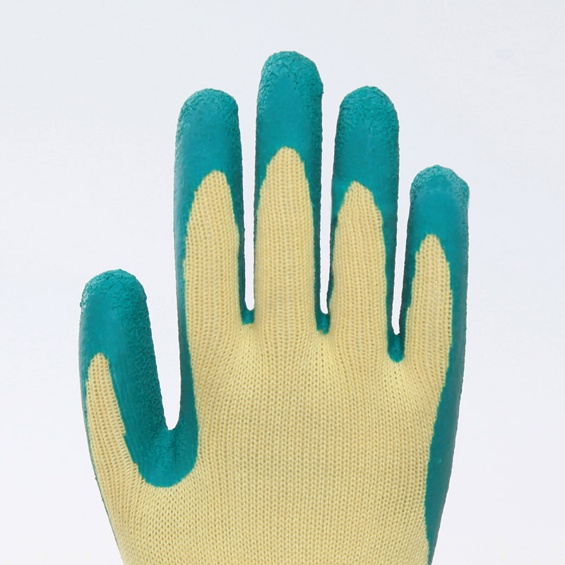 Cotton Latex Coated Safety Gloves