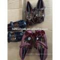 Couleurs princesse chaussures velours bow avant ballerine appartements filles école chaussure velcro sangle chaussure