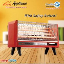 Electric quartz heater with fan