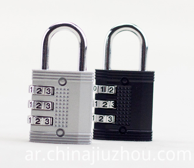 Black And Sliver Combination Lock