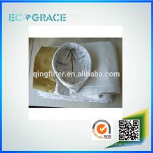 Incinérateur de déchets utilisant un sac filtre à poussière en fibre de verre résistant aux hautes températures avec membrane ptfe