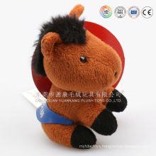 "Plush Colorful Horse Toy/ Plush Horse Toy 8"" Sitting /Soft Stuffed Colorful Horse Customized Animal Toy For Kids"