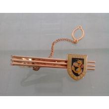 Clip de corbata chapado en oro personalizado con insignia (GZHY-LDJ-006)