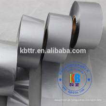 Tipo de fita de impressora TTR resina de lavagem metálica prata fita de código de barras térmica