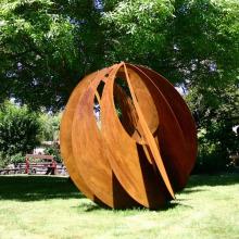 famous metal art theme park statue abstract garden corten steel sculpture