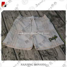 adjustable belt white grey stripe shorts