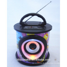 Portable Audio Holz USB SD FM Radio Verstärker Lautsprecherbox