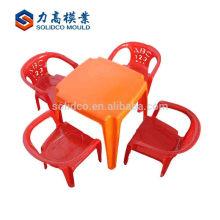 Table en plastique et chaise ménage moule en plastique de moule de table