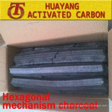 (8500kcal / 3.5-5hs de tiempo de combustión) Mecanismo hexagonal de carbón para carbón de barbacoa / serrín de carbón
