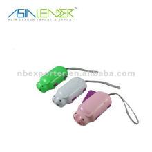 2 LED Hand drücken Taschenlampe