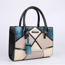 HEC Women PU Leather Handbags Shoulder Bag Female Handbags with Adjustable Long Strap