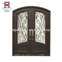 European style main door wrought iron grill window door designs