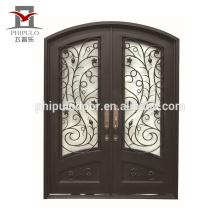 Porta principal da porta do estilo europeu porta da janela da grade do ferro forjado