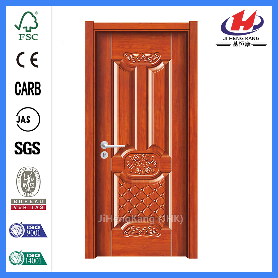 JHK-MD10 Factory made melamine finish door with door frame