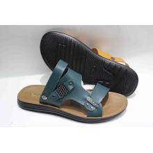 Новый дизайн мужской пляжный сандал с кожаной верхней (SNB-13-002)