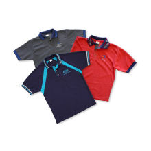 Children 4 - 16 Silk Screen Printing Polyester Cool Dry Sublimation Polo Shirt