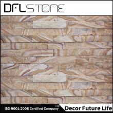 Panel de piedra de partición de piedra arenisca de color de madera