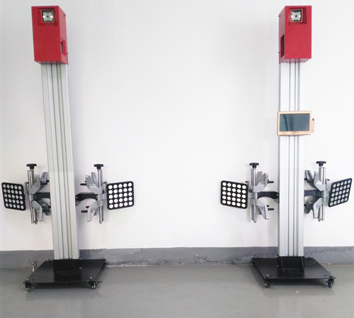 Front-end 3D wheel alignment machine