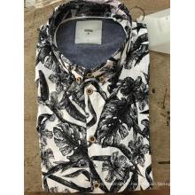 Chemise en coton à imprimé mosaïque pour homme