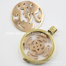 High Quality Stainless Steel Coin Floating Locket Pendant