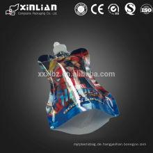 Flexible Verpackung PET / NY / AL / PE Doypack Tasche mit Auslauf für Flüssigkeit