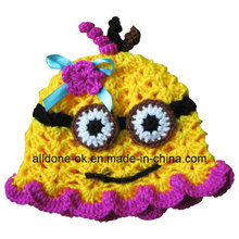 Cute Owl Hand Crocheted Baby Children Hat Great Photo Prop