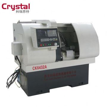 Fuso grande eixo e chuck fio de metal corte CK6432A torno cnc máquina tol com baixo custo
