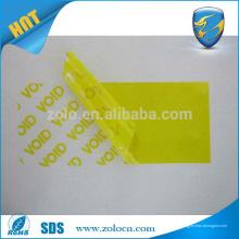 Transfer / Nichtübertragung VOID kundenspezifischer Drucklogo Aufkleber bedruckbarer void Etikettenhersteller
