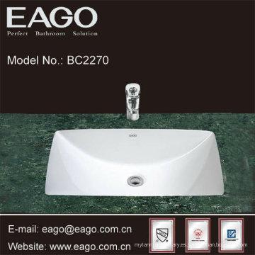 EAGO Ceramic Under Counter Lavabo para baño con certificado CUPC