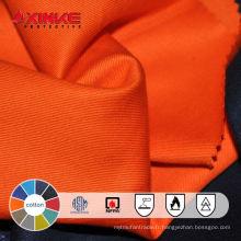 tissu de flanelle de coton ignifuge pour les combinaisons