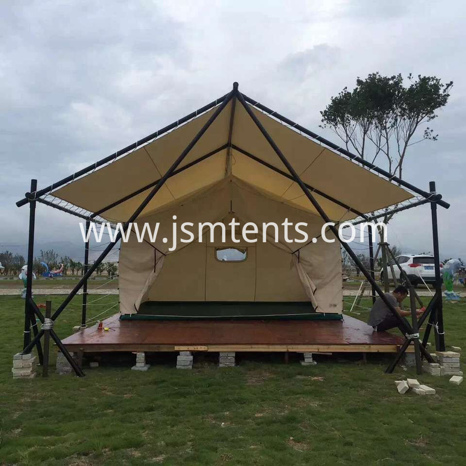 Large bell-shaped camping tent