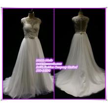 China Custom Made Wedding Dresses Lace Illusion Back V Neckline Bridal Gowns BYB-14578