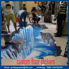Custom 3D Floor Stickers Printing